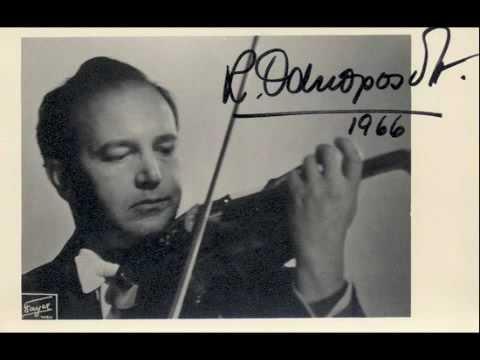 Ricardo Odnoposoff - Geminiani - Adagio - Sonata in B b Solo Violin