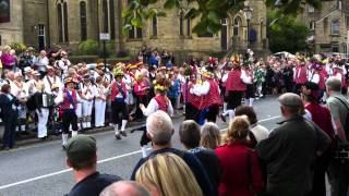 Saddleworth Rushcart 2011 Uppermill Square Rushcart Dance