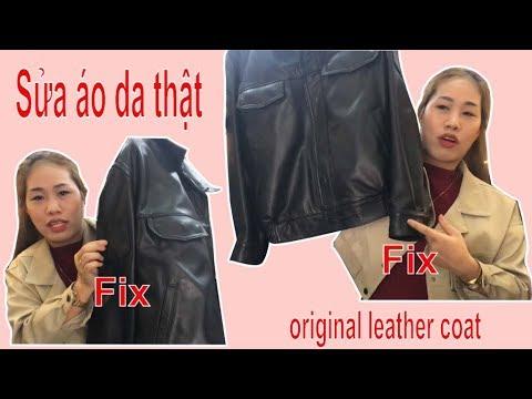 Sửa áo Da Thật Cắt Ngắn Gấu Tay Lấy Lại Lai - Trang Vũ Tv