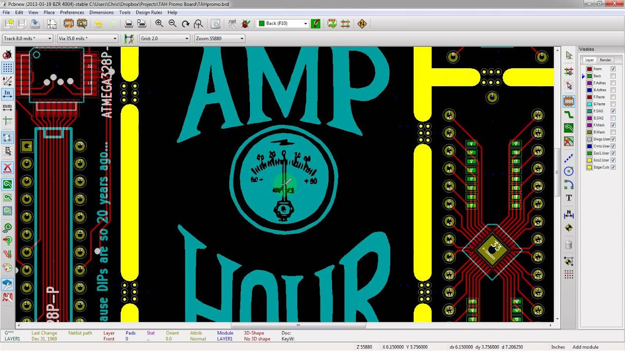 Adding Silkscreen And Graphics To Your PCB In KiCad - YouTube
