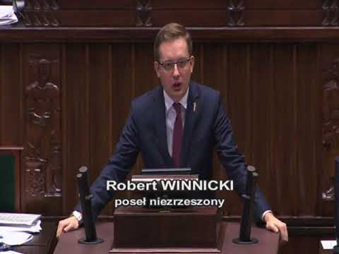 Robert Winnicki  – wystąpienie z 24 listopada 2017 r.