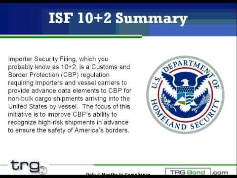 Customs Bond Holders Presentation on Importer Security Filing