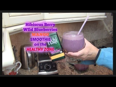 Healthy Zone Hibiscus Berry Smoothie Lower Blood Pressure