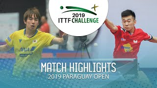Koki Niwa vs Zhang Kai | 2019 ITTF Paraguay Open Highlights (R32)