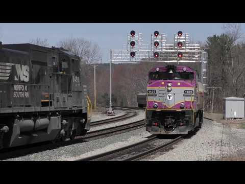 Trackside Tuesday: PAS Action + Commuter Rail along the Fitchburg Line  (4/24/18)