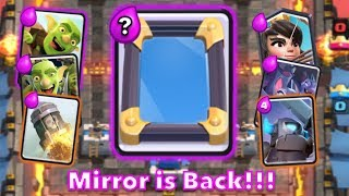 Clash Royale Mirror Card Deck Top Spell Bait Deck