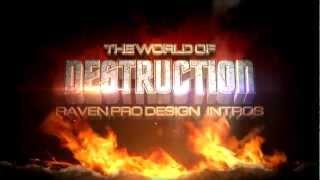 Free 3D title intros Sony Vegas Pro 11 - MineCraft and Destruction 2 designs