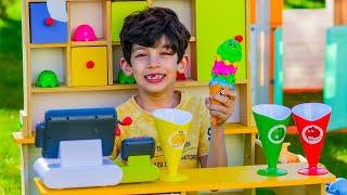 Jason sells Ice Cream at Play Shop