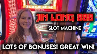 BONUS AFTER BONUS! Jin Long 888 Slot Machine! Fantastic Run!!
