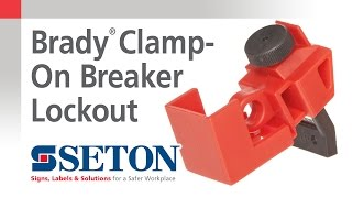 How to Install A Brady® Clamp On Breaker Lockout Device | Seton Video