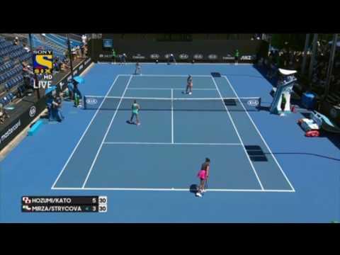 Sania mirza/strycova Vs kato/hozumi Australian open 2017