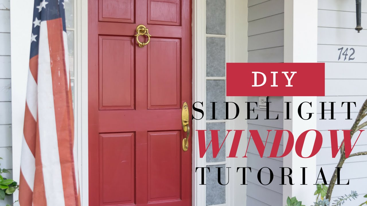 diy sidelight windows