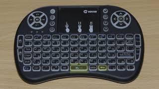 переключение на русскую раскладку беспроводной  клавиатуры i8 на Android 7.1