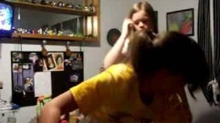Marissa and Rachel dancing to disturbia