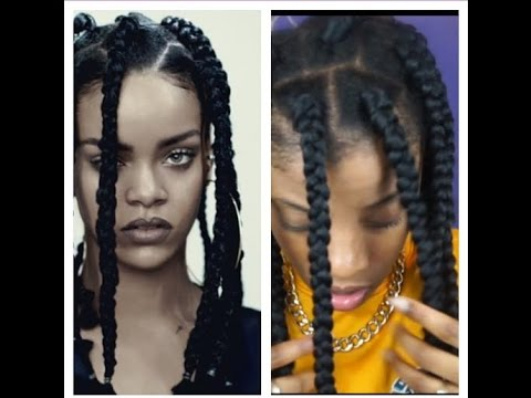 How To Rihanna Inspired Dookie Braids Youtube