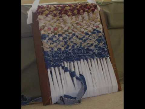 Twined Rag Weaving On Frame Loom Youtube