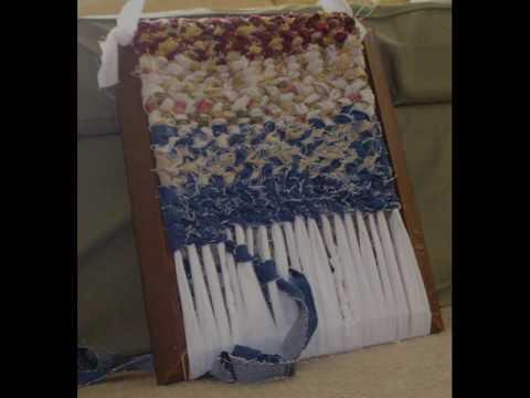 twined rag weaving on frame loom  YouTube