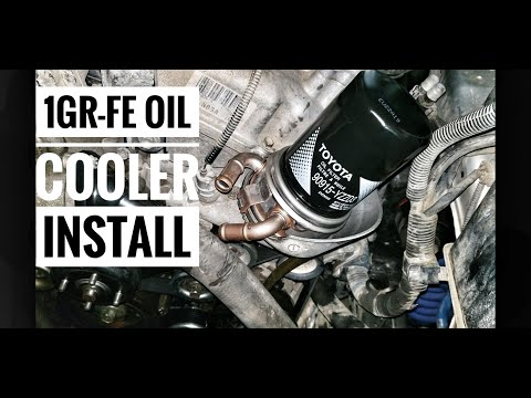 1gr Fe Oil Cooler Heat Exchanger Install Fj Cruiser Tacoma 4runner Youtube