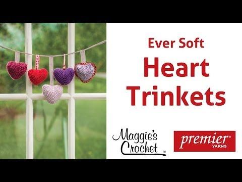 Heart Trinkets in Ever Soft Yarn Free Crochet Pattern - Right Handed