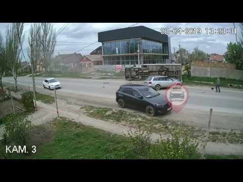 Жуткое ДТП в Крыму попало на видео