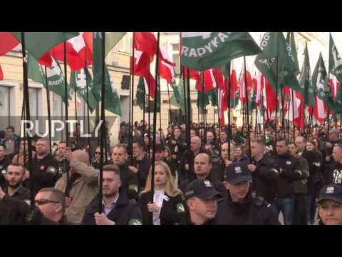 Poland: Antifa counter-demo disrupts nationalist march through Warsaw