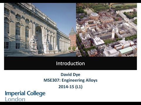 L1.1 MSE307 Engineering Alloys - Introduction