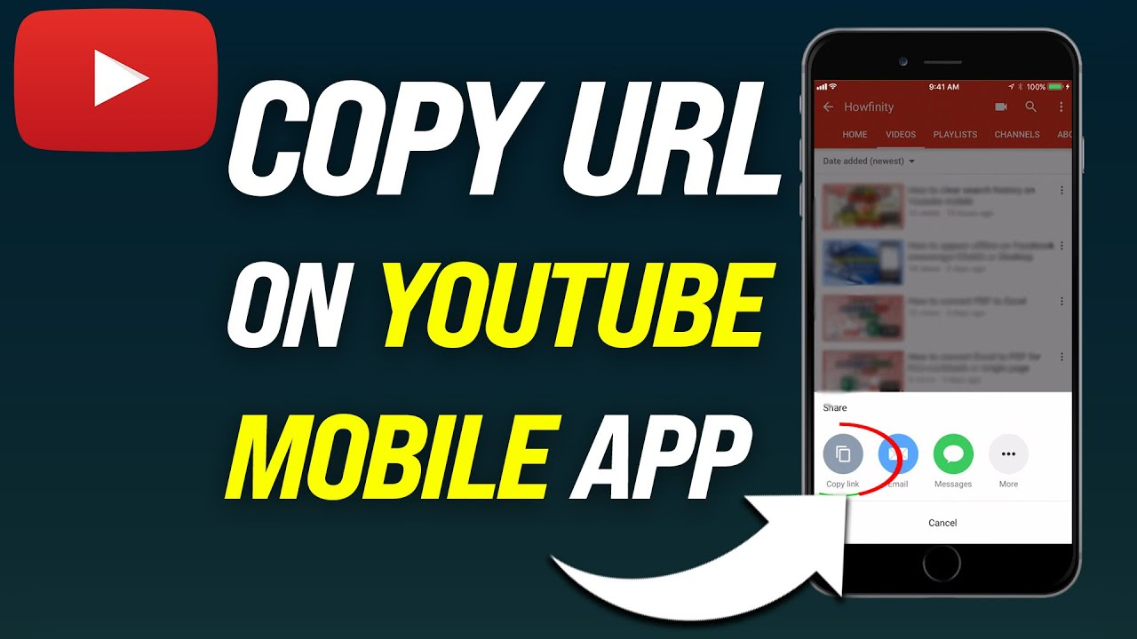 How To Copy Url On Youtube Mobile How To Erase Everything You Search