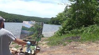 Kyle Buckland Plein Air Oil Painting Demonstration Beginner Lesson #12 Landscape Demo Art