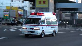 中央市民病院に向かうドクターカーです。この車両は、神戸市消防局から...