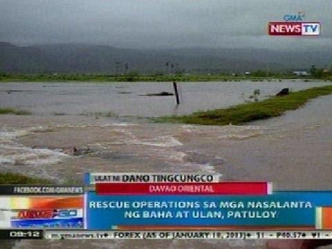 NTG: Rescue operations sa mga nasalanta ng baha at ulan sa Davao Oriental, patuloy