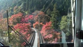 【4K】叡山電鉄鞍馬線 秋の紅葉シーズン 鞍馬から出町柳まで 2016.11.12