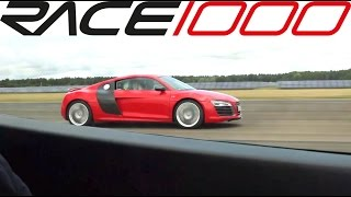 Audi R8 v10 plus stock vs R8 v10 plus ecu+exhaust 600hp