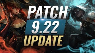 NEW UPDATE: BEST Champions TIER List - League of Legends Patch 9.22