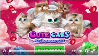 Игра Волшебные коты три в ряд в facebook