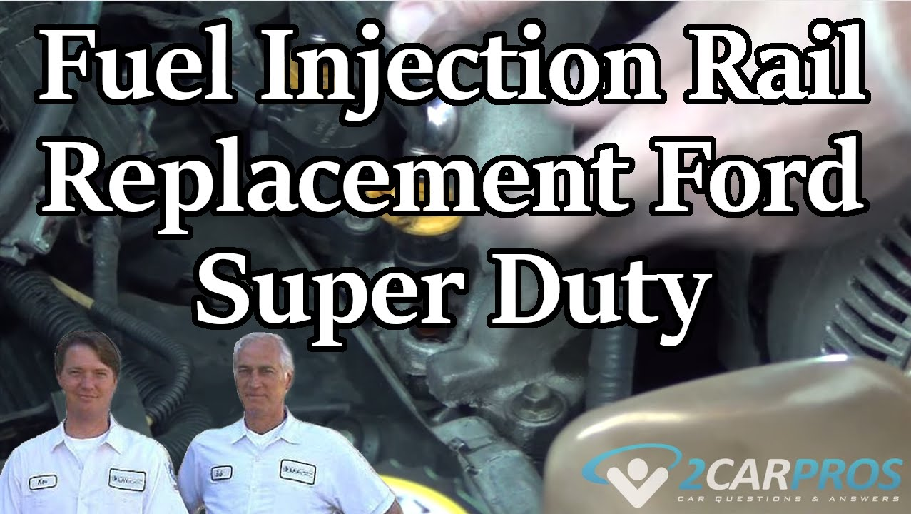 Fuel Injection Rail Replacement Ford Super Duty 1999 2007 Youtube 5 0 Wiring Harness