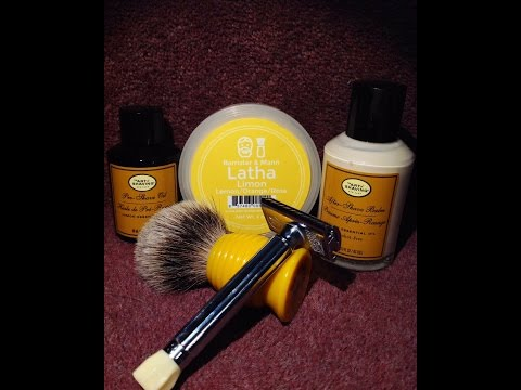 Barrister & Mann Latha Limon - Merkur Progress - Art Of Shaving Lemon