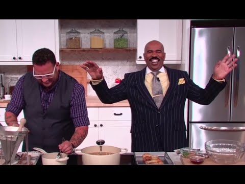 Cooking Like A Master Chef with Graham Elliot || STEVE HARVEY