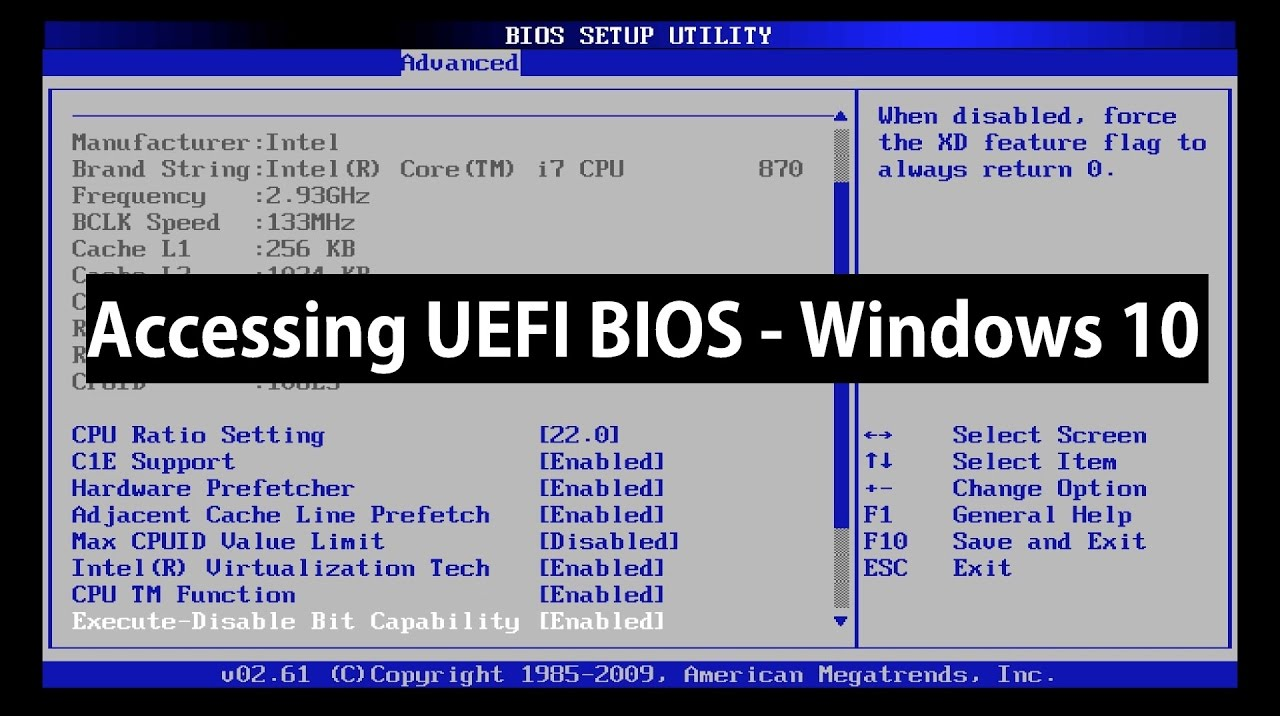 enter uefi bios windows 10