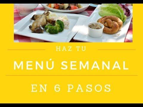 Hacer un menu mensual