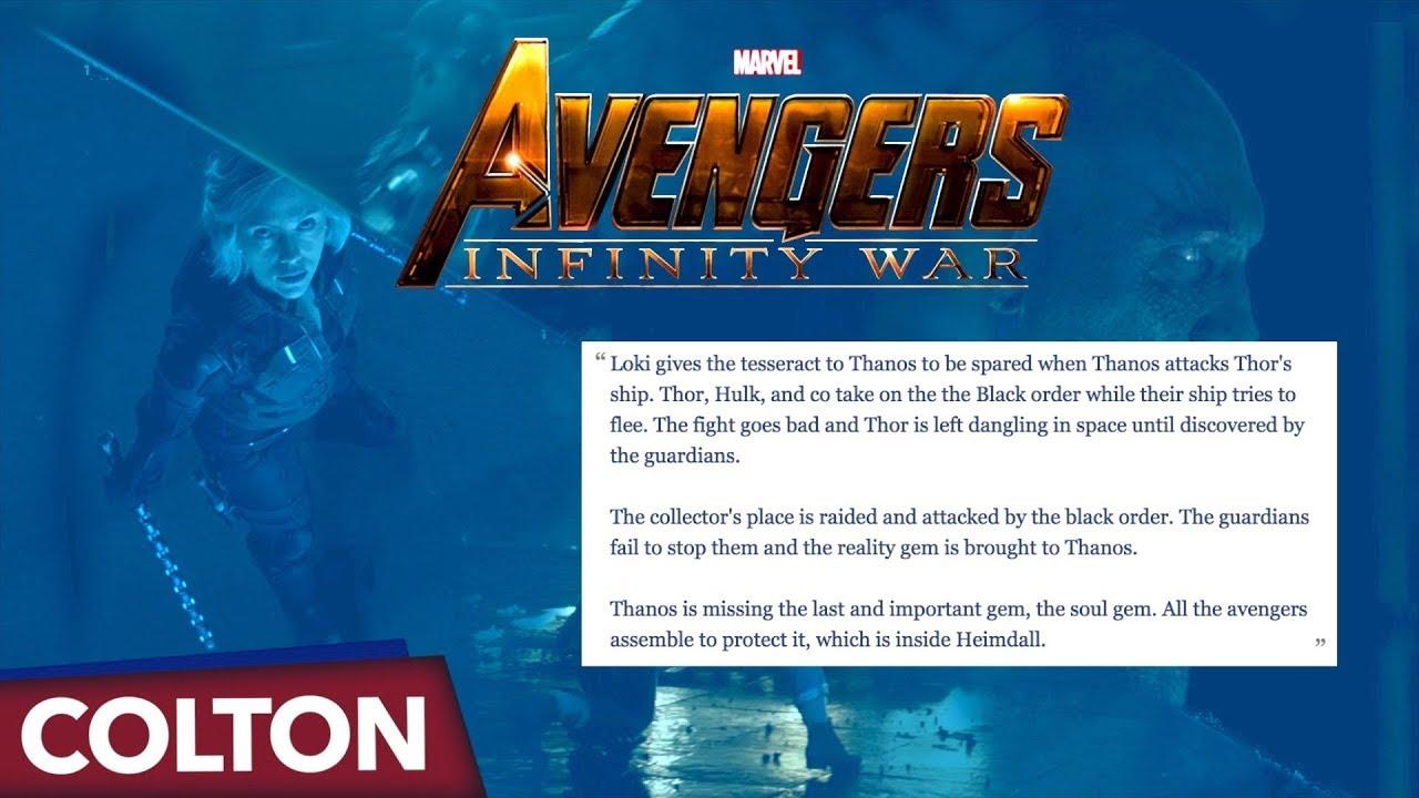 "Avengers Infinity War Trailer ""Leaked Description"""