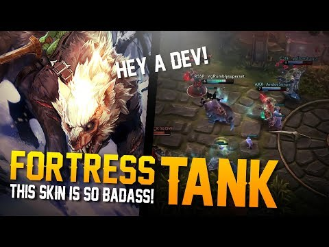 Vainglory Skins Gameplay - [R] Dire Fortress Gameplay!