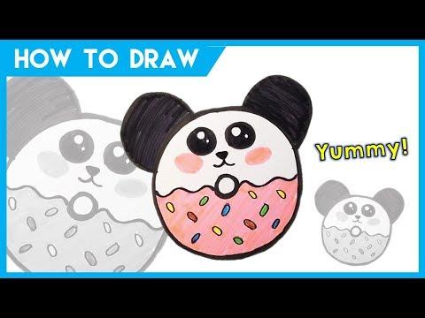 How To Draw Cute Donut Panda | Kobina Toy Art ☆