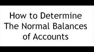 How to determine tнe normal balances of the accounts