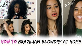 HOW TO: Brazilian Blowdry / Keratin Treat Your Hair At Home | Jaydee Stone
