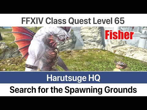 FFXIV Fisher Quest Level 65 - Search For The Spawning Grounds (Harutsuge HQ) - Stormblood