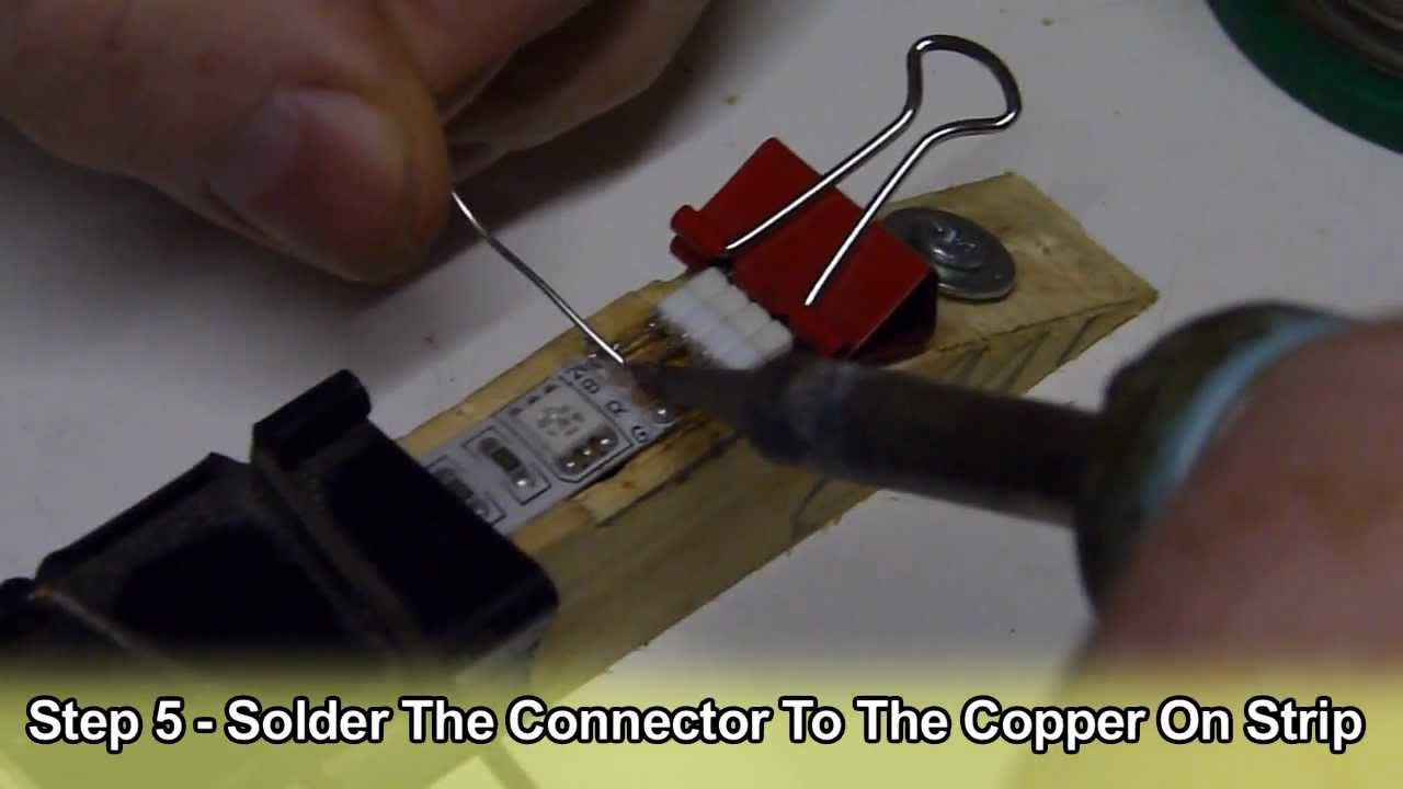 How To Solder Led Strip Lighting Downlights Direct Youtube