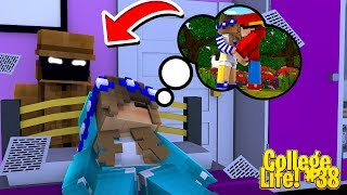 Minecraft College Life#38 - LITTLE CARLY HAS A HALLOWEEN STALKER!!