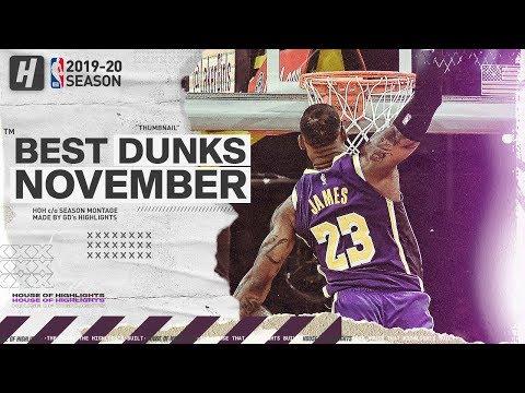 NBA's Best Dunks & Posterizes   November 2019-20 NBA Season