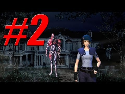 Let's Play Resident Evil HD - Jill - Part 2 - The Crests & Route To Guardhouse