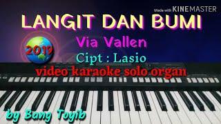 LANGIT & BUMI video karaoke solo organ,cover by bang Toyib